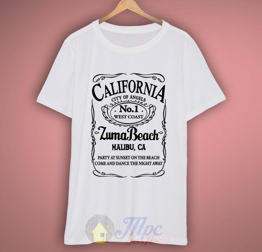California Zuma Beach Malibu T Shirt Mpcteehouse 80s Tees