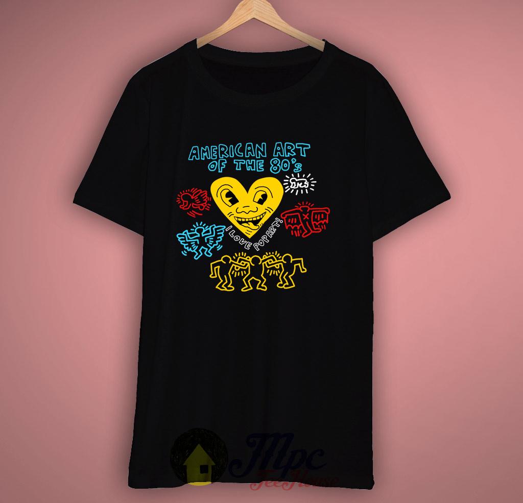 I Love American Pop Art T-Shirt