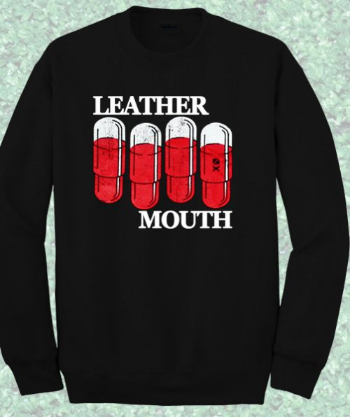 Leather Mouth Sweatshirt