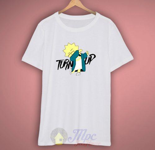 Lisa Simpson Turn Up Parody T Shirt