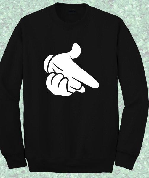 Mickey Hand Gun Sweatshirt