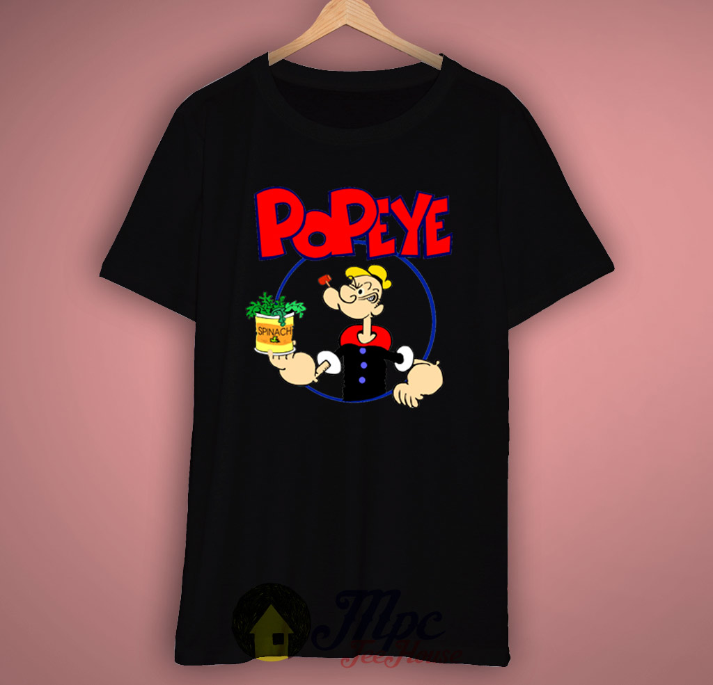 popeye spinach t shirt mpcteehouse 80s tees. Black Bedroom Furniture Sets. Home Design Ideas