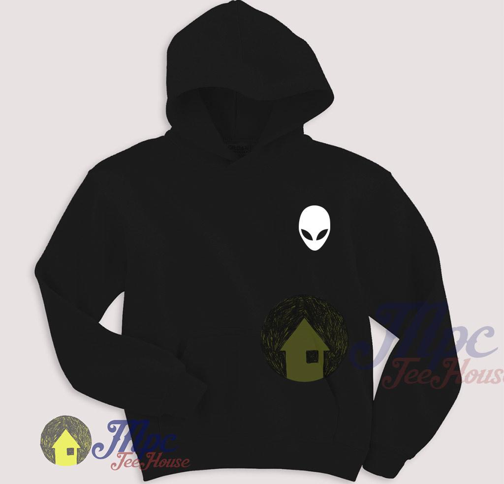 Alien Symbol Black Hoodie