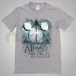 Always Believe Harry Potter and Mickey Mouse Sport Grey