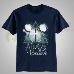 Always believe harry potter Navy blue t shirt
