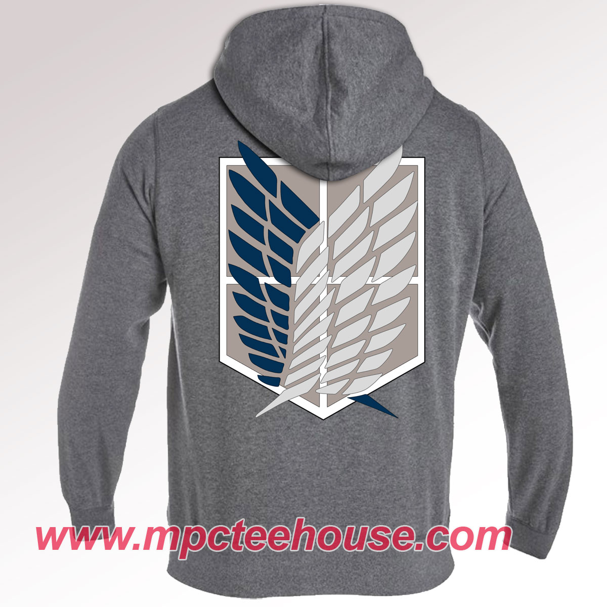 Attack On Titan Survey Corp Dark Grey Hoodie - Mpcteehouse