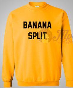 Banana Split Yellow Crewneck Sweatshirt