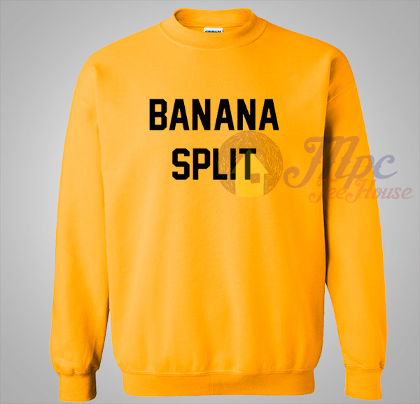 Banana Split Yellow Crewneck Sweatshirt- Mpcteehouse