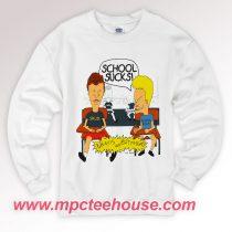 Beavis and Butt Head School Sucks Sweatshirt