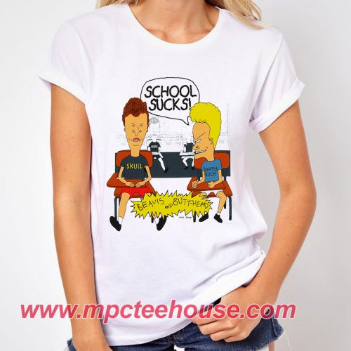 Beavis and Butt-Head School Sucks T-Shirt