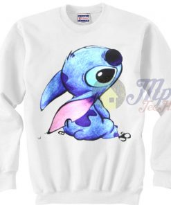Cute Face Stitch Disney Character Sweatshirt