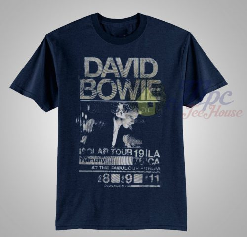 David Bowie On Stage Isolar Tour 1976 T Shirt