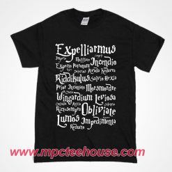 Expelliarmus Harry Potter Quote T shirt
