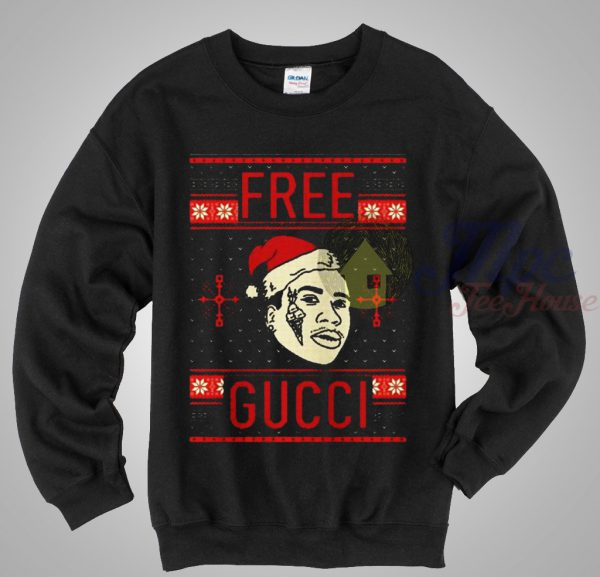 Free Gucci Mane Ugly Sweater Crewneck Sweatshirt