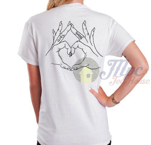 Girl Gang Love Hand White T Shirt