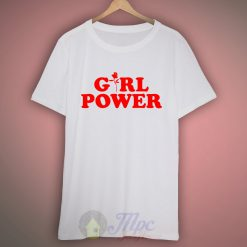 Girl Power Flower T Shirt Design