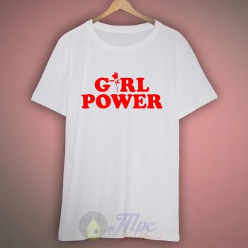 girl power flower t shirt design mpcteehouse