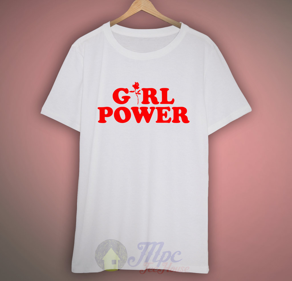 girl power flower t shirt design mpcteehouse