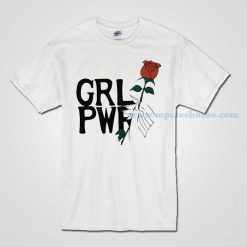 Girl Power With Rose T Shirt Available for Men and Women
