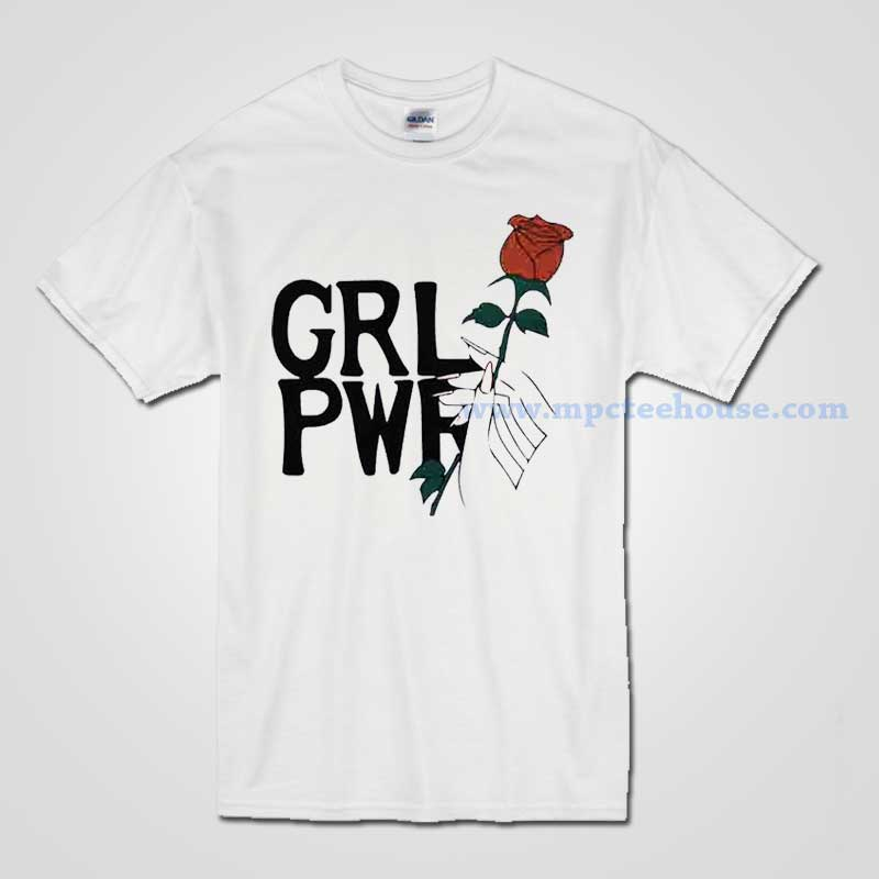 Girl Power With Rose T Shirt Available For Men And Women Mpcteehouse