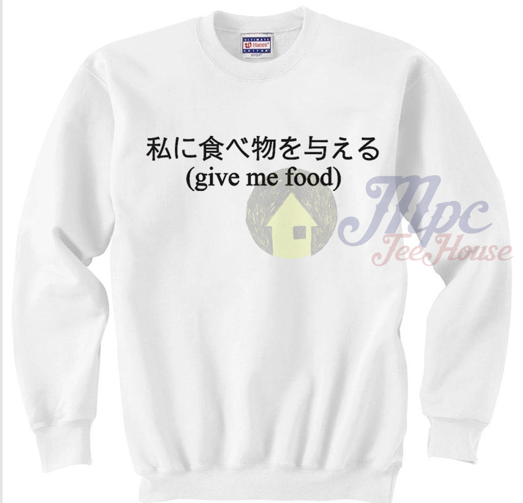 Give Me Food Korean Style Sweater