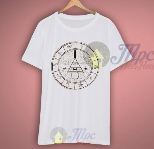 Gravity Falls Bill Chipper Map T Shirt