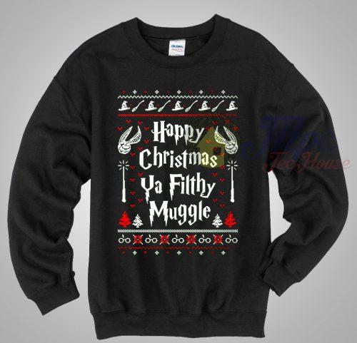 Happy Christmas Ya Filthy Muggle Harry Potter Ugly Sweater