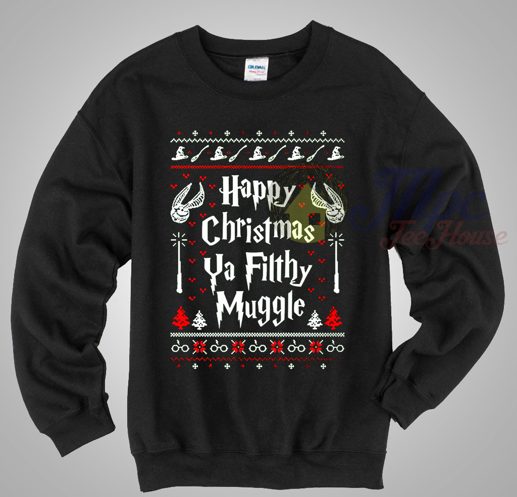 Happy Christmas Ya Filthy Muggle Harry Potter Ugly Sweater ...