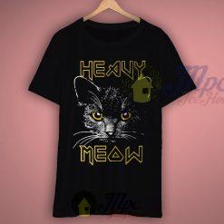 Heavy Meow Heavy Metal Style T Shirt