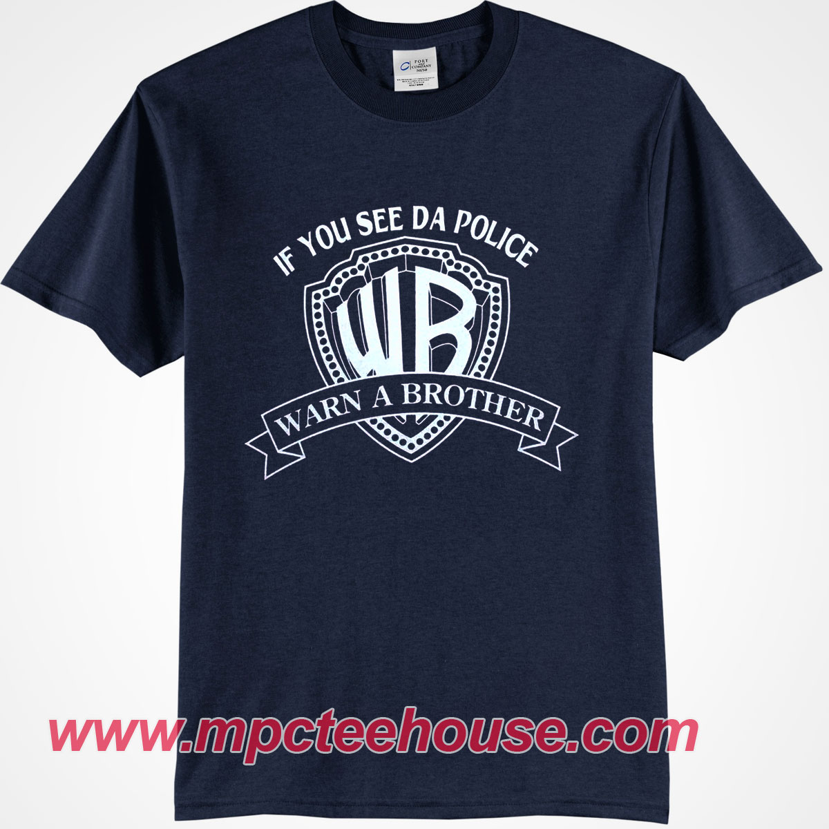 36d42141 If You See Da Police Warn A Brother T-Shirt - Mpcteehouse