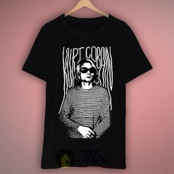 Kurt Cobain Stripes Grunge T Shirt
