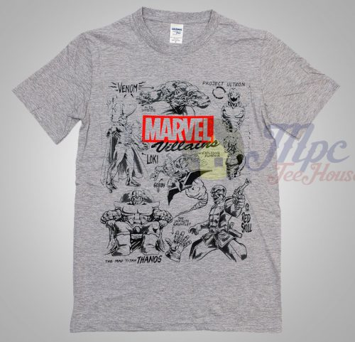 Marvel Villains Superhero T Shirt