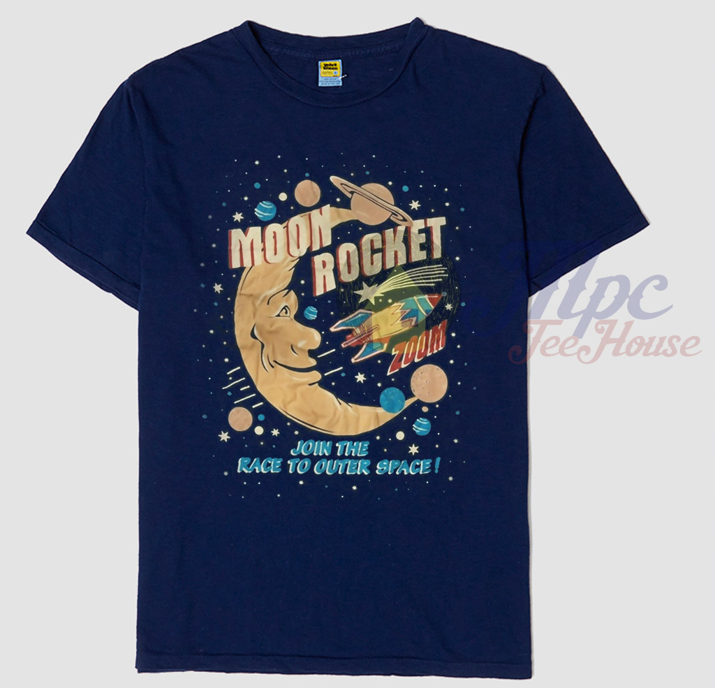 Classic Book Cover T Shirts ~ Moon rocket classic t shirt mpcteehouse
