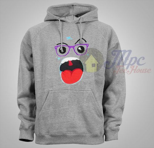 Mouth Monster Glasses Unisex Hoodie