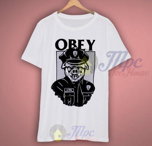 Obey Pig Cops T Shirt
