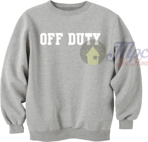 Off Duty in Grey Sweatshirt