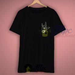 Rock Out Metal Hand Symbol Grunge T Shirt
