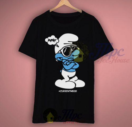 Smurf Big Papa Current Mood Face T Shirt