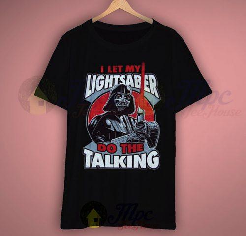 Star Wars Darth Vader Lightsaber Talking T Shirt
