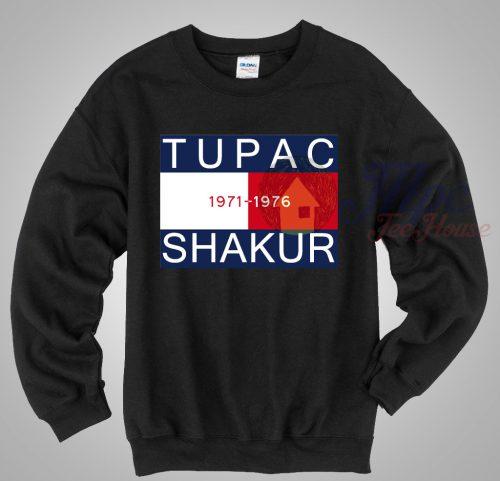 Tupac Shakur 1971-1976 Rapper Sweatshirt