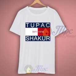 Tupac Shakur 1971-1976 White Rapper T Shirt