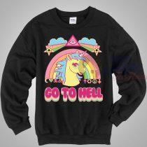 Unicorn Go to Hell Unisex Crewneck Sweatshirt