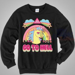 Unicorn Go to Hell Unisex Crewneck Sweatshirt