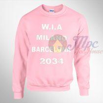 WIA Milano Barcelona 2034 Pink Sweatshirt