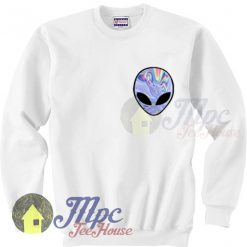 Alien Trippy Art Unisex Sweatshirt