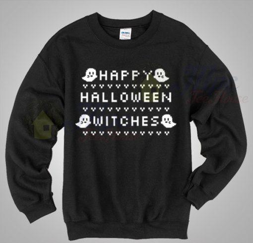 Boo Says Happy Halloween Ugly Sweater
