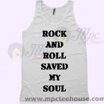 Calumn Hood Outfit Rock and Roll Saved My Soul Tank Top