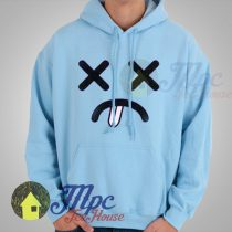 Distressed Face Emoticon Hoodie