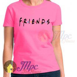 Friends Tv Show Symbol Print on Pink T Shirt