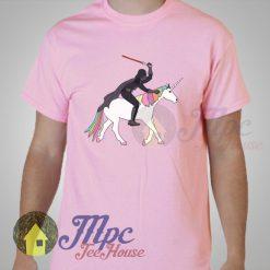 Funny Darth Vader Star Wars & Unicorn T Shirt